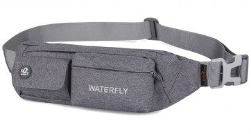 WATERFLY Slim Soft Polyester Water Resistant Waist Bag Pack for Man Women Outdoors B00QERQ0O8