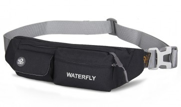 WATERFLY Slim Soft Polyester Water Resistant Waist Bag Pack for Man Women Outdoors B00QERPOAO