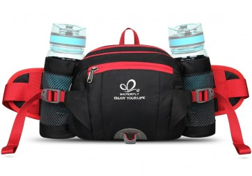 WATERFLY Pack with Water Bottle Holder Hiking Waist Pack Bag Running  Outdoor Spor B00QHXTYHE