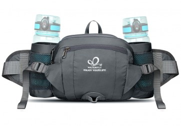 WATERFLY Pack with Water Bottle Holder Hiking Waist Pack Bag Running  Outdoor Spor B075R5FD3Y