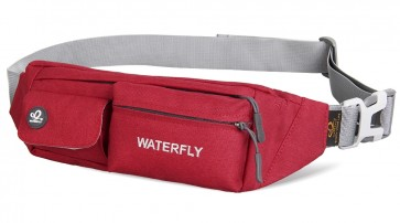WATERFLY Slim Soft Polyester Water Resistant Waist Bag Pack for Man Women Outdoors B00QERPQ3E