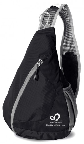 WATERFLY Sling Chest Cover Pack Rucksack for Bicycle Sport Hiking Travel Camping B00PPY5VW8