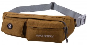 WATERFLY Slim Soft Polyester Water Resistant Waist Bag Pack for Man Women Outdoors B073LH5PT5