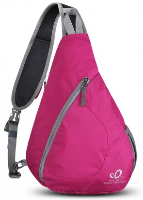 WATERFLY Sling Chest Backpacks Bags Crossbody Shoulder Triangle Packs Daypacks B01E3QWXF6