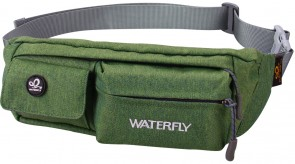 WATERFLY Slim Soft Polyester Water Resistant Waist Bag Pack for Man Women Outdoors B073LG7GV3