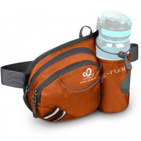 WATERFLY Hiking Waist Bag Can Hold iPhone6 Plus 5.9 inch Gear with Water Bottle B00QENFW96