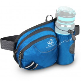 WATERFLY Hiking Waist Bag Can Hold iPhone6 Plus 5.9 inch Gear with Water Bottle B00QENFW4Q