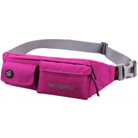 WATERFLY Slim Soft Polyester Water Resistant Waist Bag Pack for Man Women Outdoors B073F95YXM