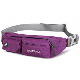 WATERFLY Slim Soft Polyester Water Resistant Waist Bag Pack for Man Women Outdoors B0142DZ32K
