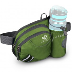 WATERFLY Hiking Waist Bag Can Hold iPhone6 Plus 5.9 inch Gear with Water Bottle B00QENFZ0C